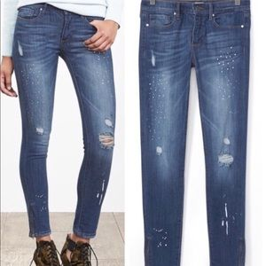 Banana Republic distressed skinny ankle jeans